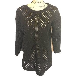 Chelsea & Theodore sz XL black peekaboo sweater